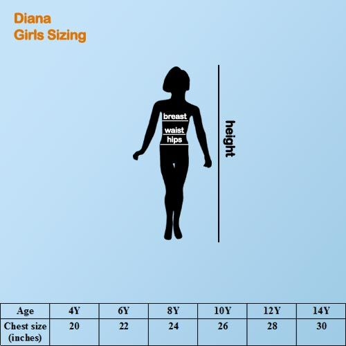 Diana Girl's Size Guide