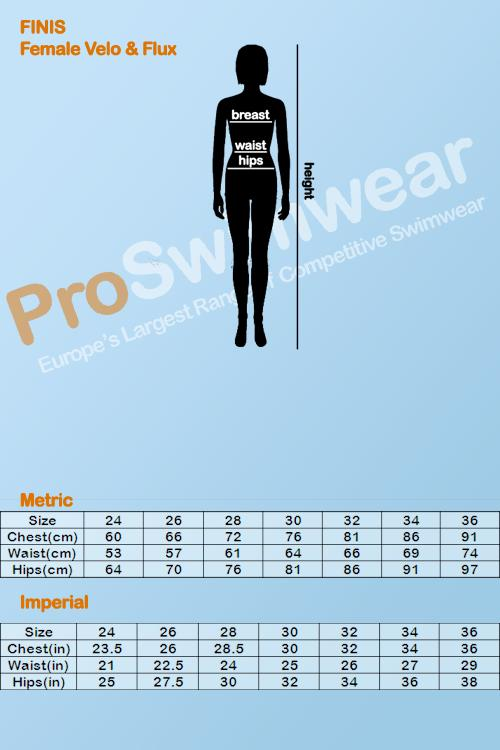 Finis Womens Size Guide