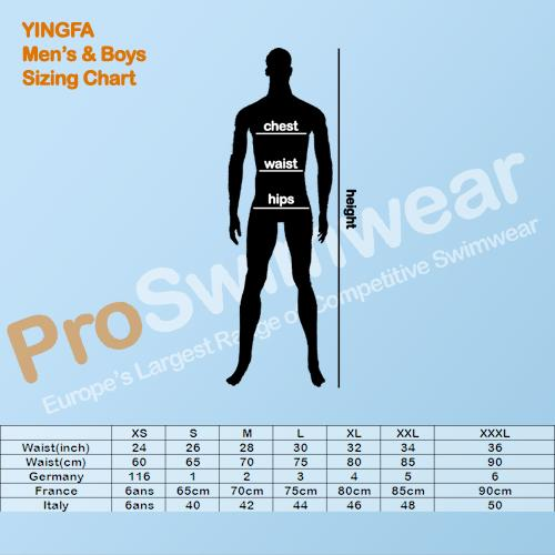 Yingfa Men's and Boys Size Guide