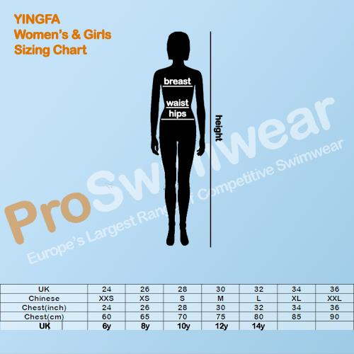 Yingfa Women's and Girl's Size Guide