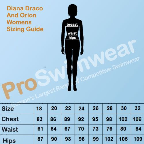 Diana Draco & Orion Women's Size Guide