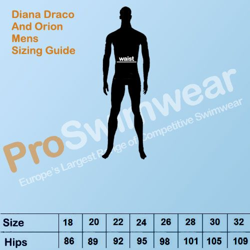 Diana Draco & Orion Men's Size Guide