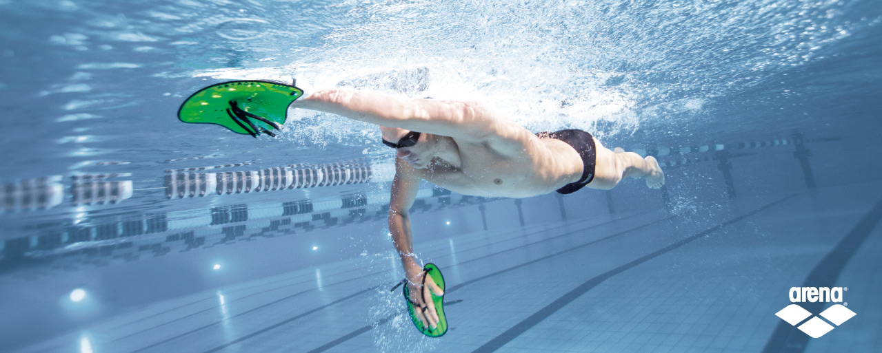 Image result for using hand paddles for swimming