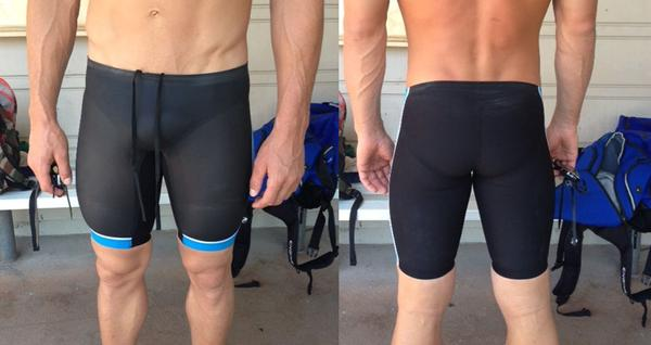 The new jammer fit is higher at the back of the suit than any of our previous suits. This means it covers more of the gluteus muscles, which are big powerful muscles for swimming