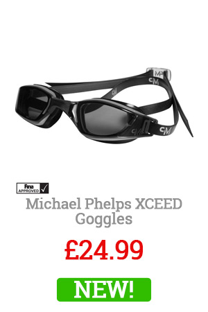 Michael Phelps Black Xceed Goggles