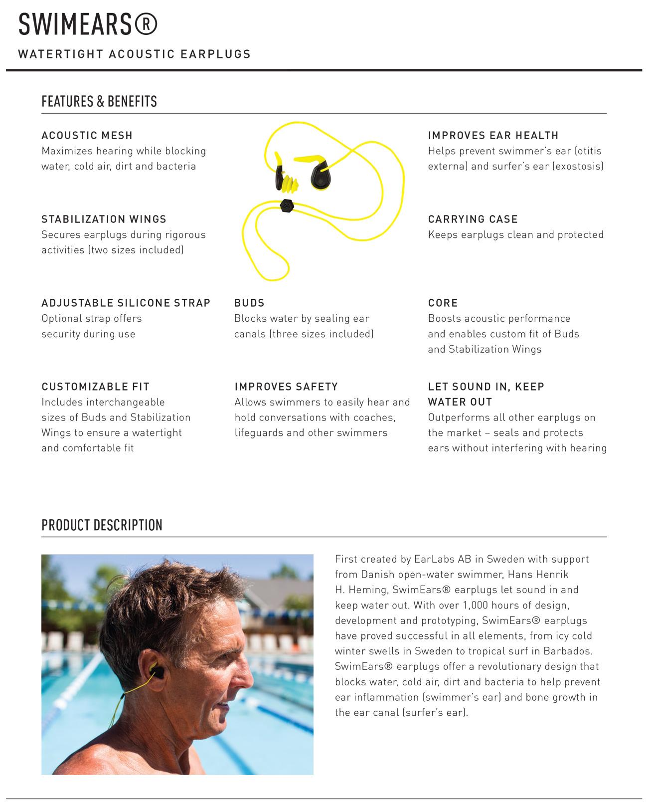 Swim Ears Tech Sheet