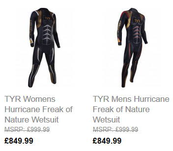 TYR Hurricane Wetsuits